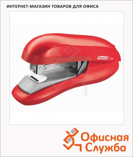 фото: Степлер Rapid Flatclinch Halfstrip F30 №24/6 26/6, до 30 листов, светло-красный
