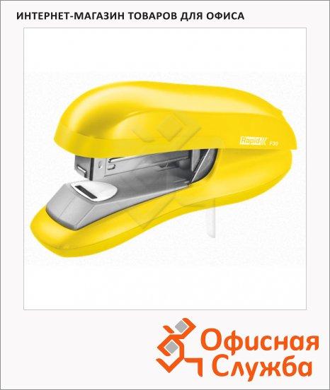 фото: Степлер Rapid Flatclinch Halfstrip F30 №24/6 26/6, до 30 листов, желтый