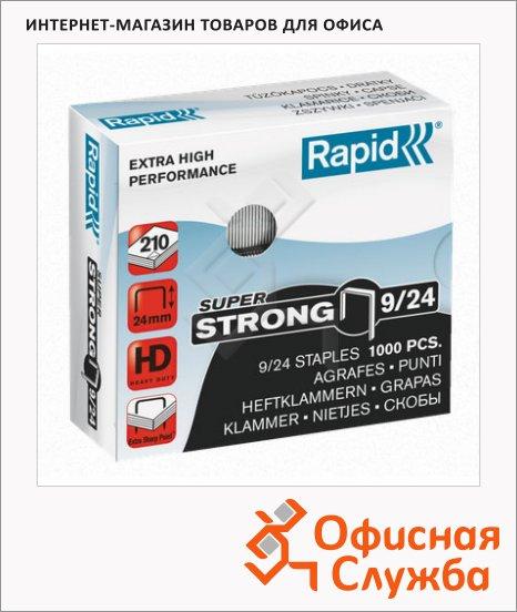 Скобы для степлера Rapid Super Strong 1M №9/24, стальные, 1000 шт