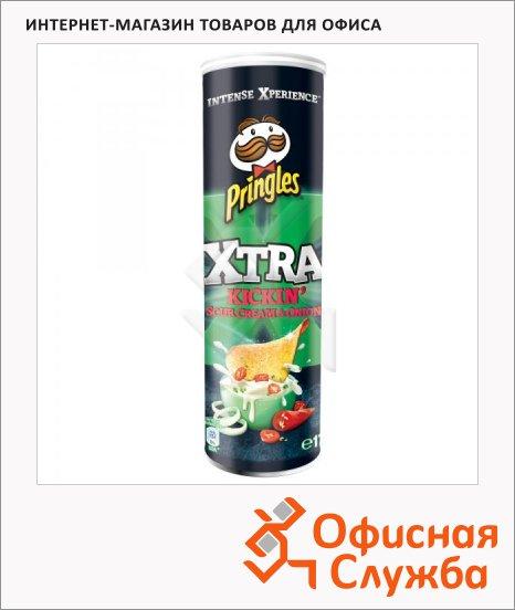 Чипсы Pringles Xtra сметана/ лук