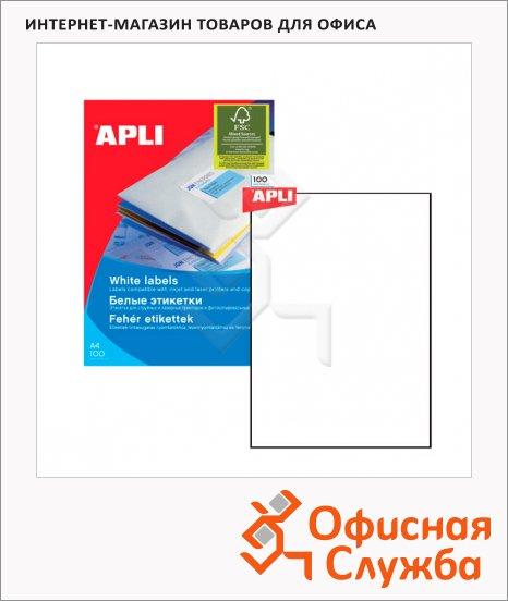 Этикетки белые Apli 10819 210х297мм, 25шт