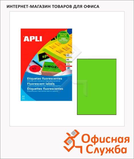 фото: Этикетки цветные Apli 2881 зеленые флюорисцентные