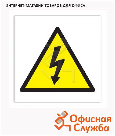 фото: Знак Высокое напряжение Apli 114х114мм самоклеящаяся пленка ПВХ, 10951