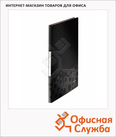 Папка файловая Leitz Bebop черная, А4, на 20 файлов, 45640095