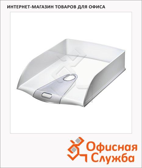 Лоток горизонтальный для бумаг Leitz Allura 384х253х71мм, белый глянцевый, 52000001