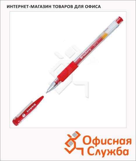 Ручка гелевая Brauberg Number One красная, 0.5мм