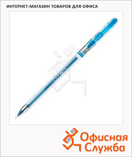 Ручка гелевая Erich Krause G-Point синяя, 0.38мм, 0.38мм