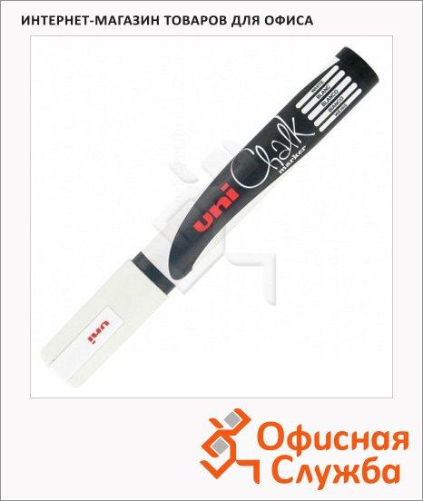 Маркер меловой Uni Chalk PWE-17K белый, 15мм, круглый наконечник, для окон и стекла