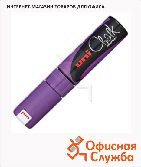 Маркер меловой Uni Chalk PWE-8K фиолетовый, 8мм, скошенный наконечник, для окон и стекла