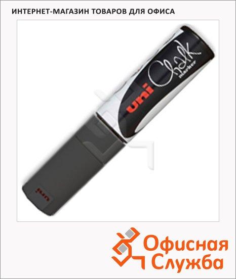 Маркер меловой Uni Chalk PWE-8K черный, 8мм, скошенный наконечник, для окон и стекла