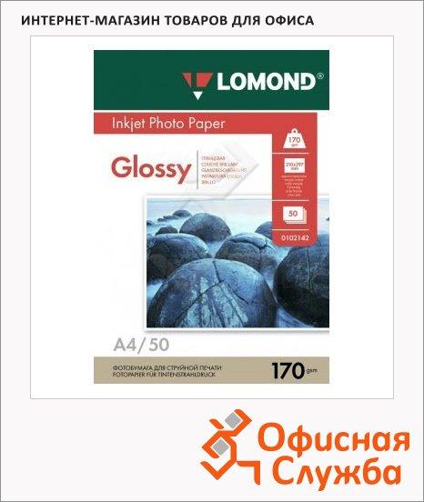 фото: Фотобумага для струйных принтеров А4 170г/м2, глянцевая, 50 листов, 102142