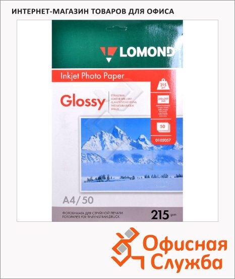 фото: Фотобумага для струйных принтеров Lomond А4 50 листов, 215г/м2, глянцевая, 102057