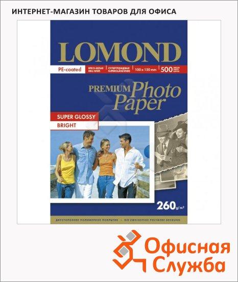 Фотобумага для струйных принтеров Lomond А6, 260г/м2, суперглянцевая, 500 листов, 10х15см, 260 г/м2, 1103105