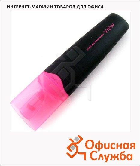 Текстовыделитель Uni View Ups-200 розовый, 1-5мм, скошенный наконечник, 67295