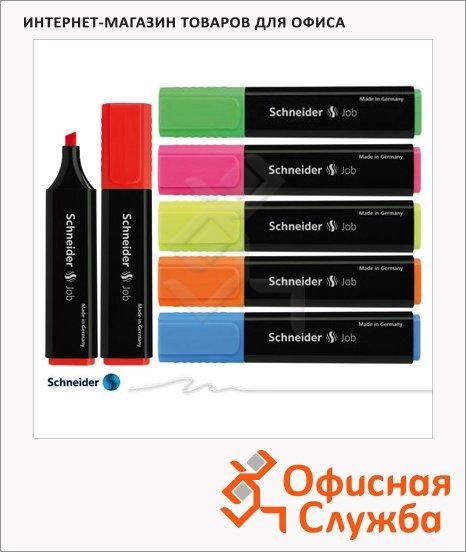 фото: Текстовыделитель Schneider Job набор 6 цветов 1-5мм, скошенный наконечник
