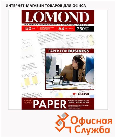 Фотобумага для струйных принтеров Lomond А4, 250 листов, 150г/м2, глянцевая, 102133