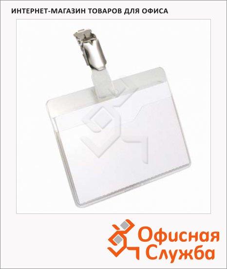 фото: Бейдж на зажиме Durable 60х90мм 25шт/уп, белый, 8106-19