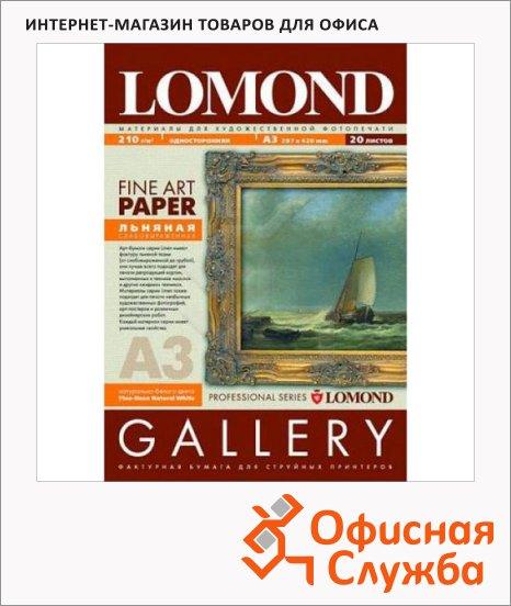 Фотобумага для струйных принтеров Lomond А3, 20 листов, 170г/м2, лен, 913032
