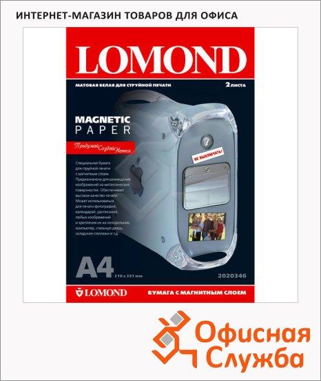 фото: Фотобумага для струйных принтеров Lomond A4 2 листа, 660 г/м2, матовая, для магн. стикеров, 719825