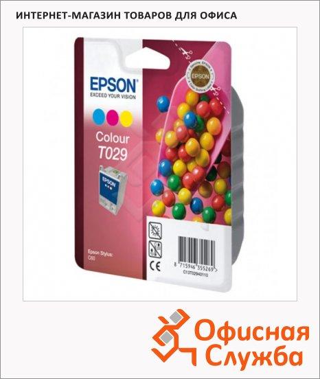 Картридж струйный Epson C13 T029401, цветной