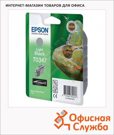 фото: Картридж струйный Epson C13 T034740 серый
