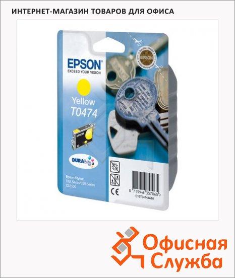 фото: Картридж струйный Epson C13 T04744 A10 желтый