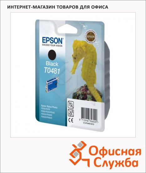 Картридж струйный Epson C13 T0481 4010, черный