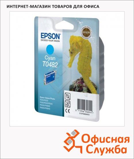 фото: Картридж струйный Epson C13 T0482 4010 голубой