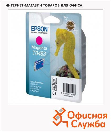 Картридж струйный Epson C13 T0483 4010, пурпурный