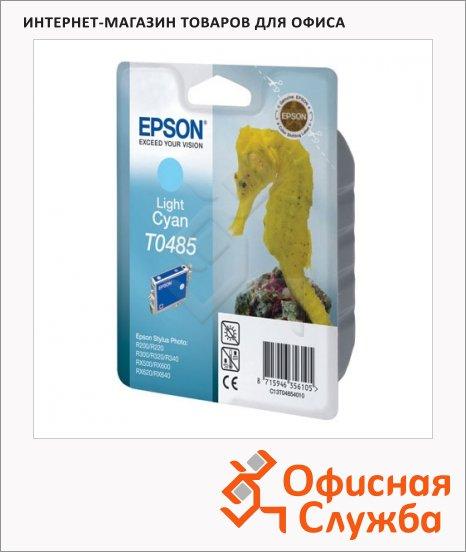 фото: Картридж струйный Epson C13 T0485 4010 светло-голубой