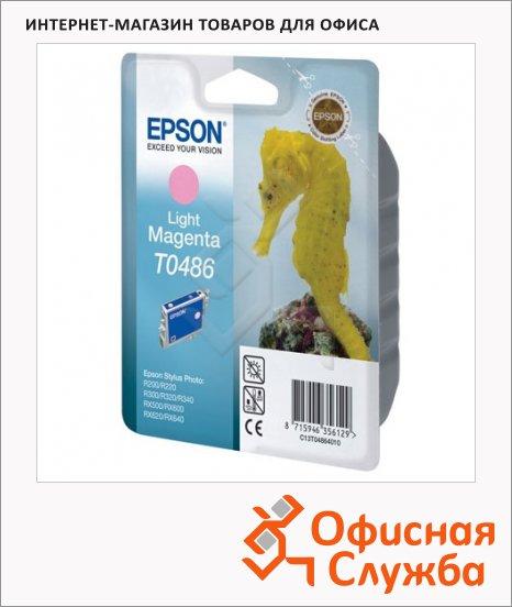 Картридж струйный Epson C13 T0486 4010, светло-пурпурный