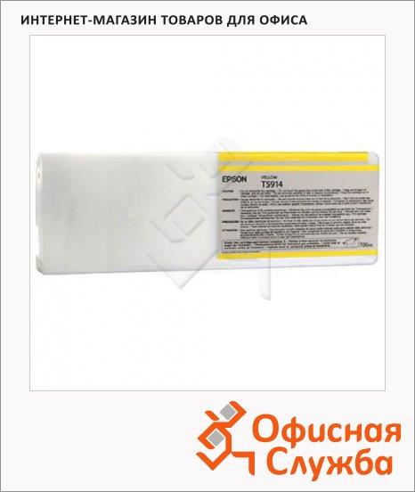 Картридж струйный Epson C13 T591400, желтый