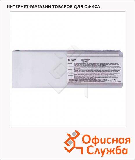 Картридж струйный Epson C13 T591700, серый