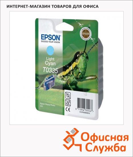 Картридж струйный Epson C13 T033540, светло-голубой