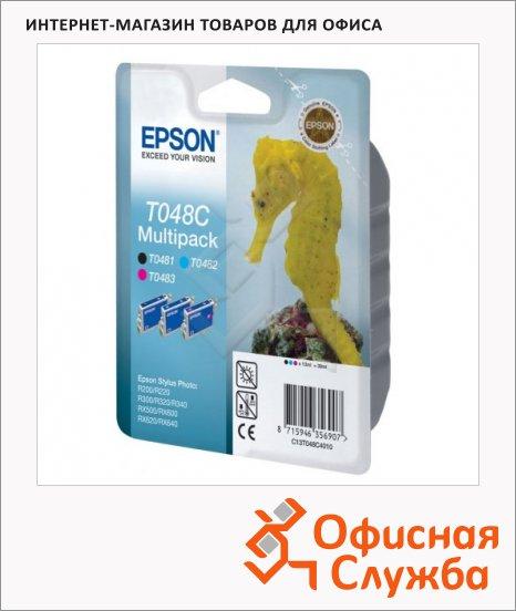 фото: Картридж струйный Epson C13 T048C 4010 3 цвета, 3шт/уп