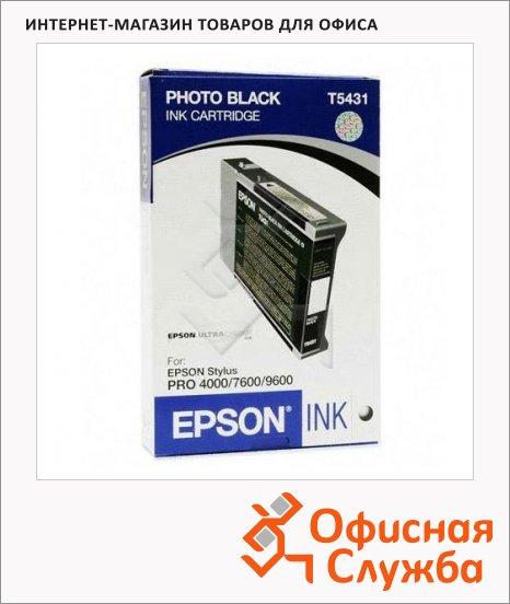 Картридж струйный Epson C13 T543100, черный