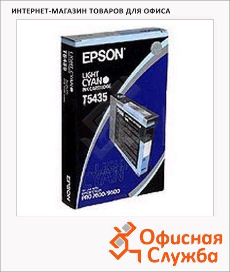 фото: Картридж струйный Epson C13 T543500 светло-голубой