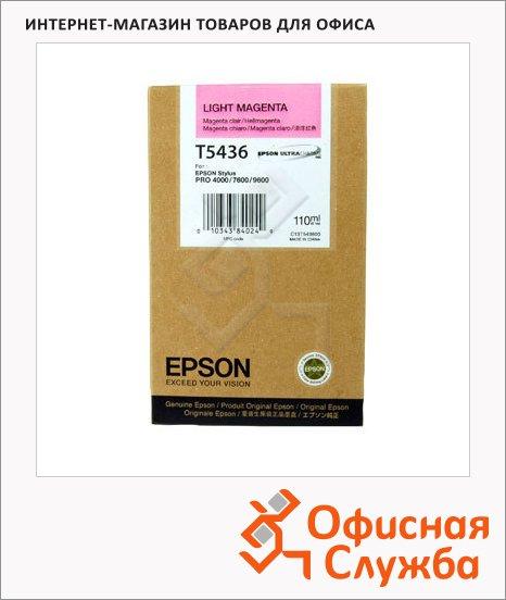 Картридж струйный Epson C13 T543600, светло-пурпурный