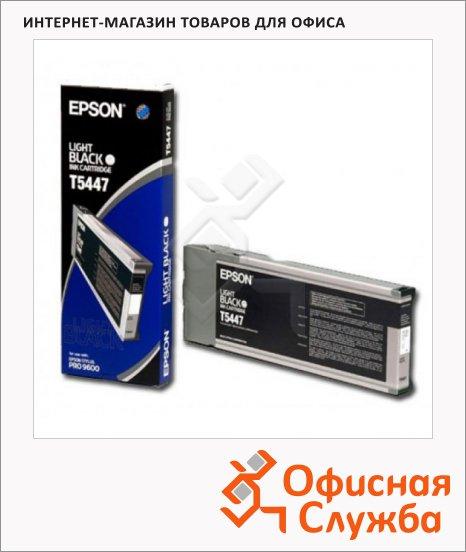 фото: Картридж струйный Epson C13 T544700 серый