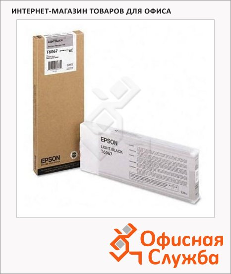 Картридж струйный Epson C13 T606700, серый
