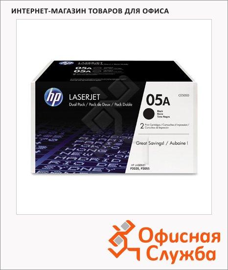 фото: Тонер-картридж Hp CE505D черный, 2шт/уп
