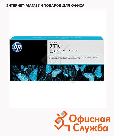 Картридж струйный Hp 771 B6Y37A, 3шт/уп, черный