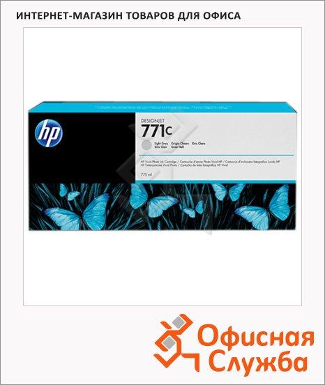 Картридж струйный Hp 771 B6Y38A, 3шт/уп, светло-серый