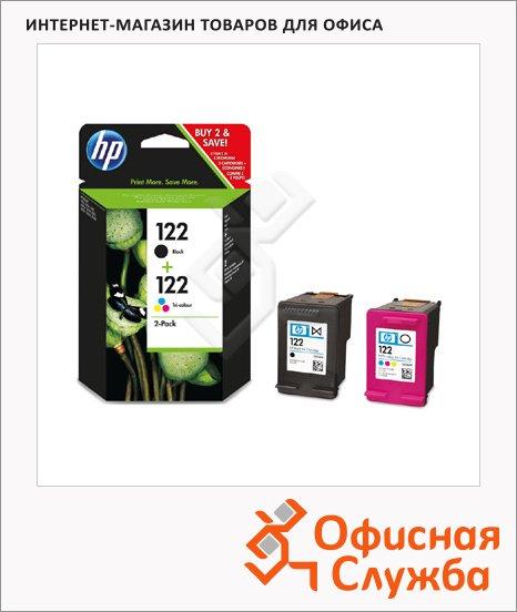 Картридж струйный Hp 122/122 CR340HE, трехцветный+черный