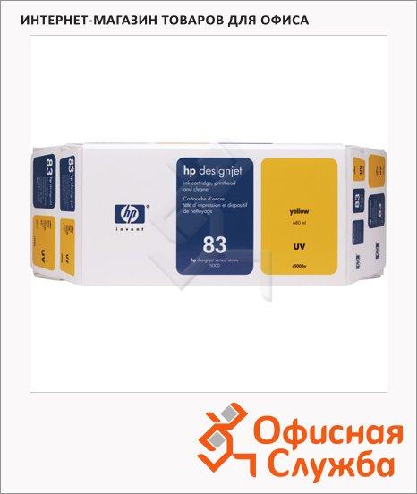 фото: Картридж струйный и печатающая головка Hp 83 C5003A желтый