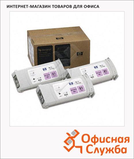 фото: Картридж струйный Hp 81 C5071A 3шт/уп, светло-пурпурный