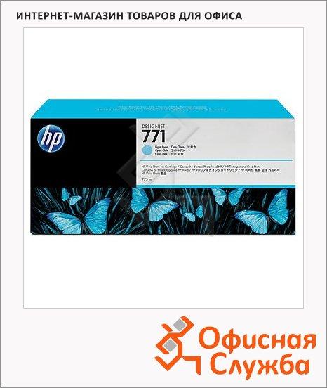 Картридж струйный Hp 771 CE042, светло-голубой