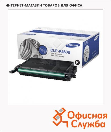 фото: Тонер-картридж Samsung CLP-K660B черный