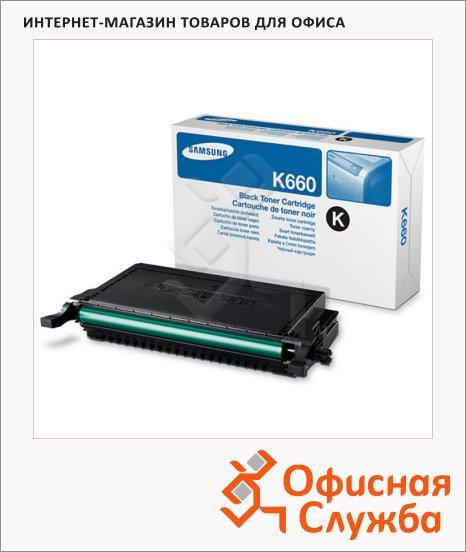 Тонер-картридж Samsung CLP-K660A, черный