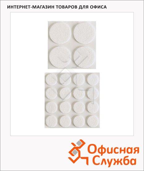 Наклейки на мебельные ножки Икеа 20 шт/уп, белые